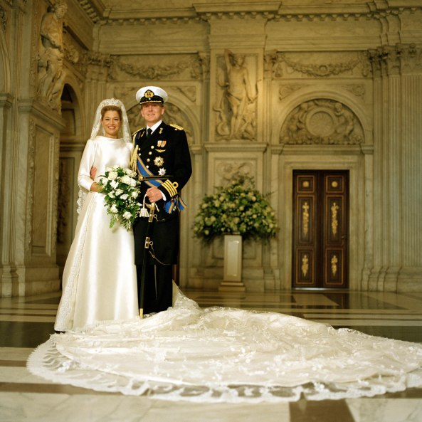 Prince Willem-Alexander in uniform on his wedding day, 2-2-2002