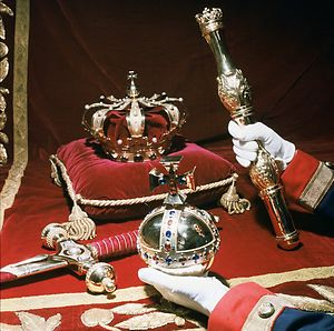 Crown, Sceptre, Orb and Sword, the Regalia of the Netherlands